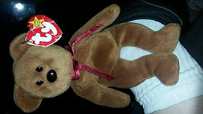 "TY Beanie Baby ""Teddy"" style 4050 with tag errors"