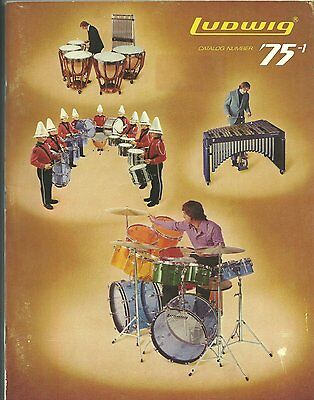 1975 Ludwig Drum Catalog With Matching Price List