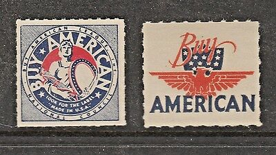 USA State revenue fiscal or cinderella stamp 321- 21 Buy American 1930s mnh