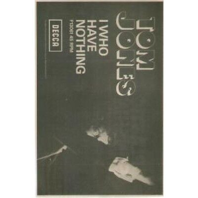 TOM JONES I Who Have Nothing ADVERT UK Decca 1970 Original Newspaper Advert