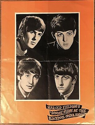 The High Numbers/Who & The Beatles Blackpool Opera House Program August 16, 1964