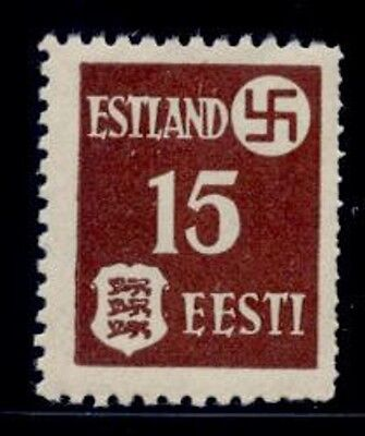 Estonia #n3 Rouletted At Right Variety Nh Vf
