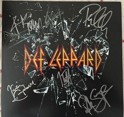 Def Leppard Vinyl autographed Signed by the Entire band