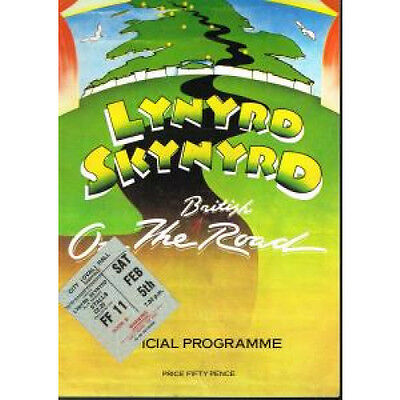 LYNYRD SKYNYRD On The British Road Tour Programme And Stub TOUR PROGRAMME UK