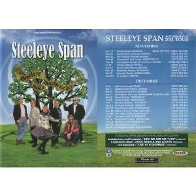 STEELEYE SPAN Now We Are Six FLYER UK Park Promotions 2011 Double-Sided Flyer