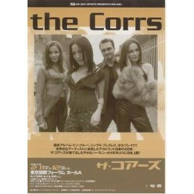 CORRS In Blue FLYER Japanese Lava 2001 Double Sided Promo Flyer For Tour Approx