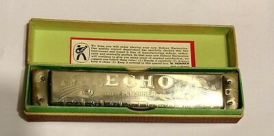 M.Hohner Vintage Harmonica.  The Echo,. Made in Germany