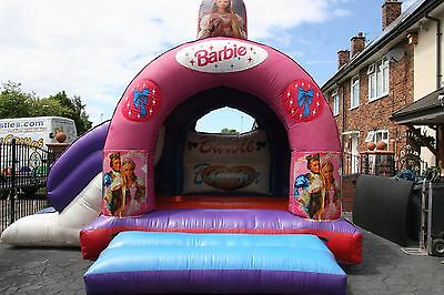 17ft x 15ft barbie slide bouncy castle for sale with blower