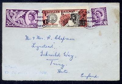 Uk Talyllyn Railway 1S Stamp Tied To England