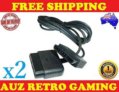 2x Controller Extension Cable PlayStation 2 PS2 Game Control