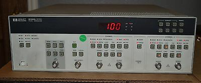 HP Agilent 8130A High Speed Dual Channel Pulse Generator 300MHz opt 020 GOOD