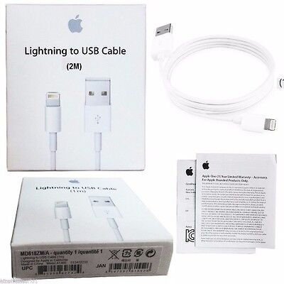 Original Genuine 2M Apple Lightning Data Cable Charger for iPhone 5S 6S 7 iPad