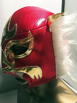 Authentic Grimm TV Prop ~ Luchador Wrestling Mask? ~ Metallic  Red w/ Gold White