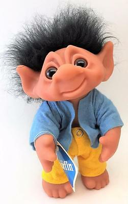 """Beautiful Mint Condition w/ Tags 9"""" Vintage 1977 Norfin Hector Troll w/ Clothes"""
