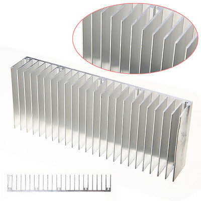 60mm x 150mm x 25mm Silver Aluminum Heat Sink For LED And Power IC Transistor