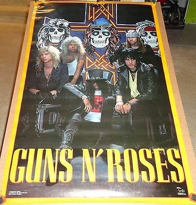 "Guns N' Roses Vintage Original 1988 ""Skulls""  Poster -""In Original Packaging"""