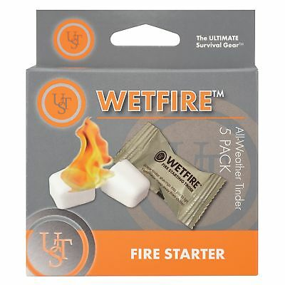 Ultimate Survival Technologies WetFire Tinder 5-Pack All-Weather Fire Starter