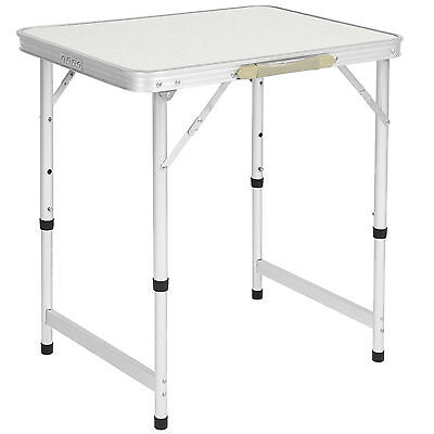 "Aluminum Camping Picnic Folding Table 23.5"" x 17.5"" Portable Outdoor"