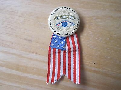 1918 Parkersburg, WV Grand Lodge Independent Order of Odd Fellows Pinback Button