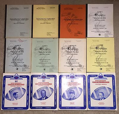 Coach Of The Year Football Clinic Manuals