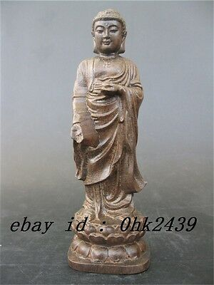Chinese Chen Xiang Wood Hand - carved statute of Buddha NR679