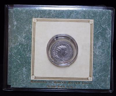 Giordian III Roman Silver Coin with COA from American Historic Society