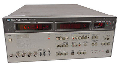 HP Agilent 4275A 10kHz-10MHz Digital Multi-Frequency LCR Meter Measurement