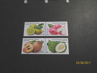 No-1-2017 - COCOS    ISLAND -FRUITS  OF  COCOS   4  STAMPS   --MINT  --MNH-A1