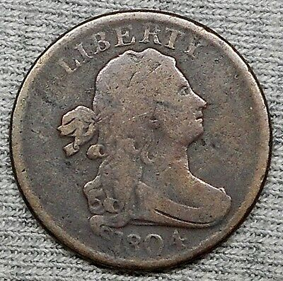 1804 Draped Bust Half Cent - Stemless