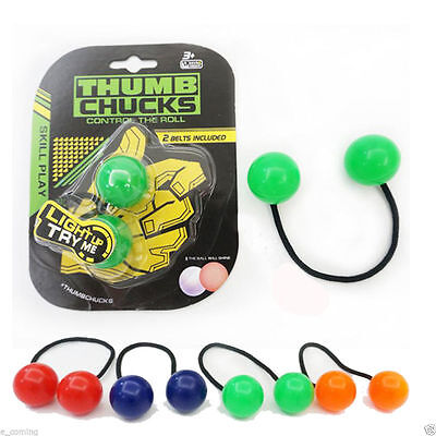 Thumb Chucks Bundle Control Roll Game Knuckles Finger Ball Anti Stress Toy Gift