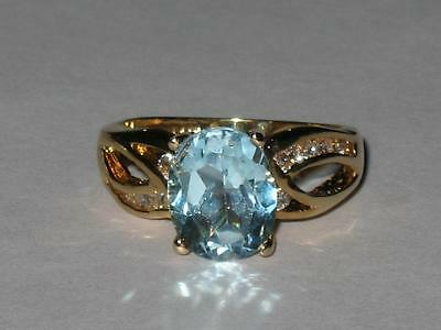 Vintage Blue Gem Ring 6 White Witch Estate GOOD THINGS MANIFEST NEW BEGINNINGS