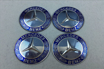 65mm Car Wheel Hub Center Stickers Cap Badge Adhesive Logo Fits Mercedes Benz