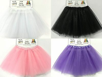 Tulle Tutu Skirt 80s Colour Women Costume Pale Pink Black White Lilac Ballet