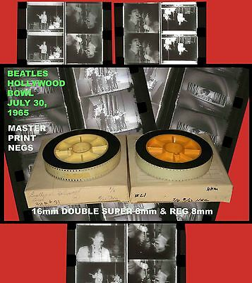 July 1965 BEATLES Hollywood Bowl 16mm Dbl Super8/8mm Lab MASTER PRINT NEGS Pair