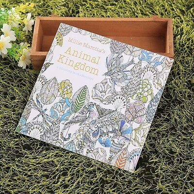 Children English Animal Kingdom Hunt Relax Improve Painting Colouring Book