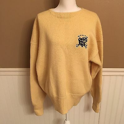 Vintage Polo By Ralph Lauren Men's Wool Knit Embroidered Logo Sweater Size XL