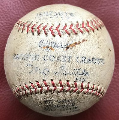 Antique 1930s Wilson Official Pacific Coast League Baseball Ball PCL GAME USED!!