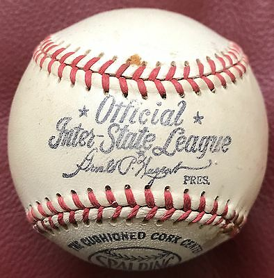 1940's Spalding Official Inter-State League Baseball Ball Unused SWEET!!!