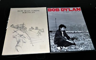 2 Bob Dylan music books, Slow train coming & under the red sky