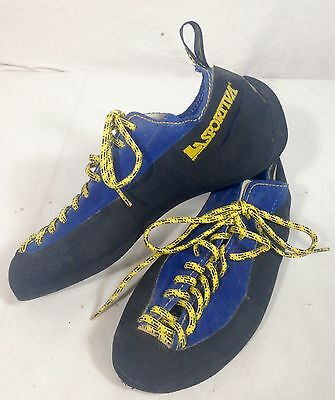 Vintage La Sportiva Climbing Shoes Blue Made In Italy Womens Size 36.5 US 6/ 6.5