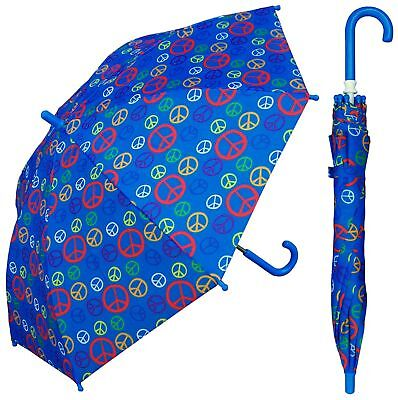"32"" Children Kid Peace Sign Umbrella - RainStoppers Rain/Sun UV Cute"