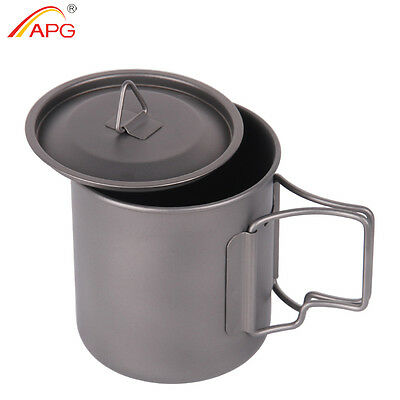 Portable Camping Titanium Mugs Traveling Hiking Outdoor Survival Cups 400ml APG