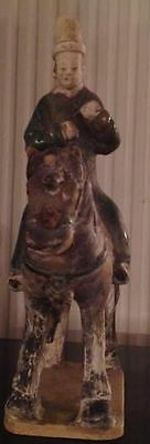 Chinese Ming Dynasty Terracotta Horse with a Figure Circa A.D 1644- COA