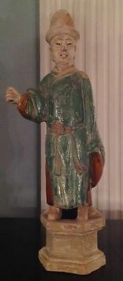 Chinese Ming Dynasty Terracotta Man Circa A.D 1644- Certificate of Antiquity