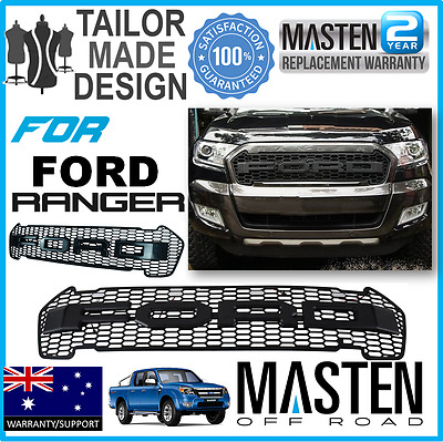 For Ford Ranger Front Grille LED PX2  PX MK2 15-2016 Wildtrak LED Lights Black