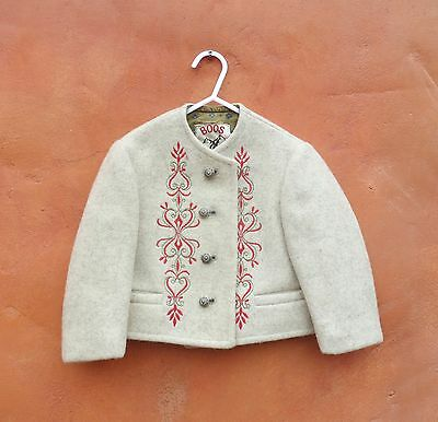 Vintage Austrian Wool Boos cardigan jacket coat Children's Child 2T Oktoberfest
