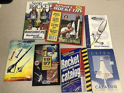 Estes Flying Model Rocket Catalog and Magazine Lot As Shown 1996 to Current