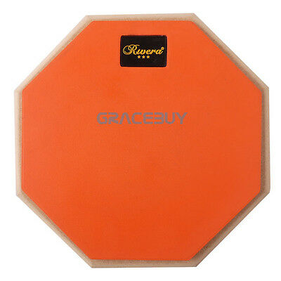 8'' Octagon Authentic Real Feel Drum Practice Pad Silencer for Student drummer