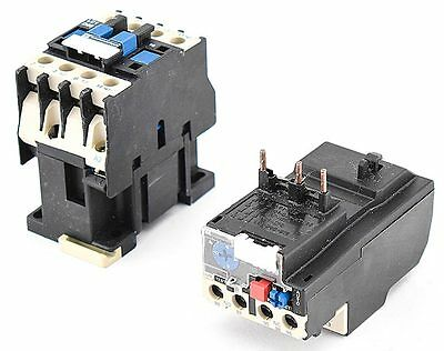Telemecanique LC1 D09 10 DIN AC Contactor +LR2 D13 4-6A Thermal Overload Relay