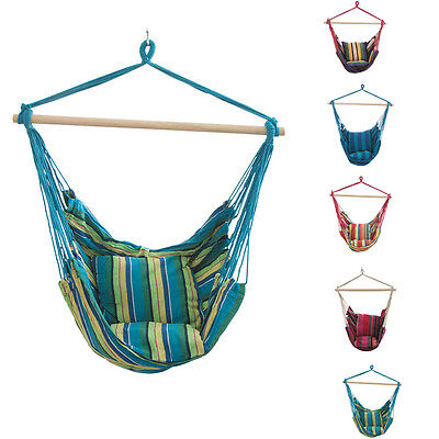 Adult Child Hammock Hanging Rope Chair Porch Swing Seat Patio Camping Portable
